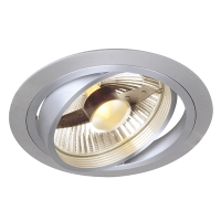 ES111 Downlight, rund, alu brushed, GU10, max. 75W
