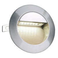 LED 14 Wandleuchte, alu brushed, 0,8W, warmweiss, IP44