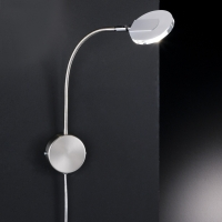 Wandlampe mattnickel/chrom LED