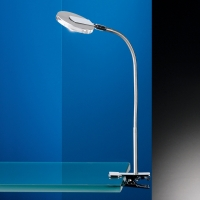 Klemmlampe mattnickel/chrom LED