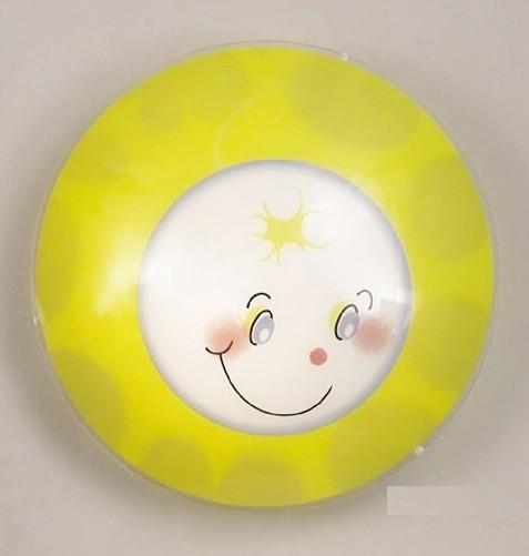 Decken- oder Wandleuchte Glas bunt Smily für Kinderzimmer - Lampen Shop Deckenlampen