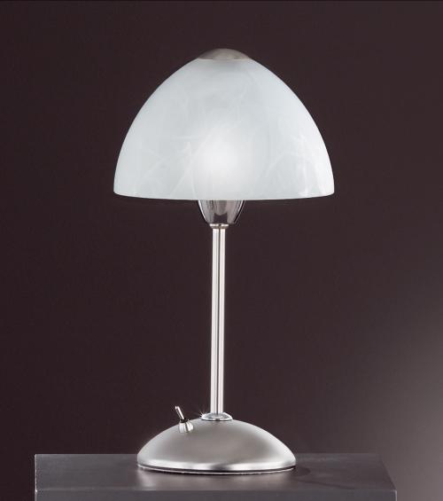 tischlampe mattnickel chrom eco halogen leuchtenshop tischlampen. Black Bedroom Furniture Sets. Home Design Ideas