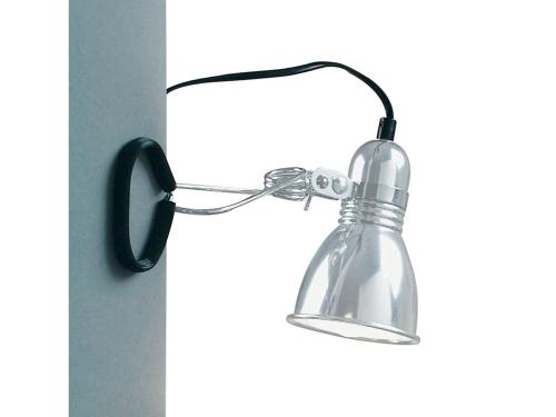 Klemmspot Lampe Metall Farbe Aluminium - Lampen Shop Klemmspot
