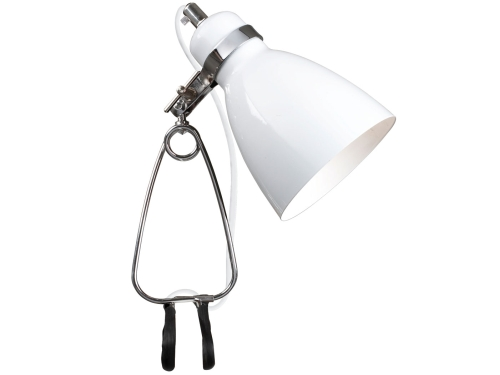 Klemmspot Leuchte Metall Farbe Weiss - Lampen Shop Klemmspot