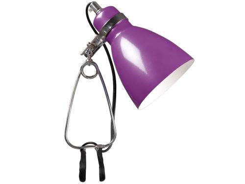 Klemmspot Lampe Metall Farbe Lila - Lampen Klemmspot