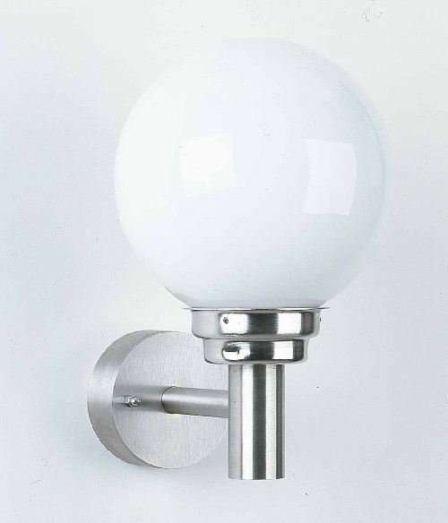 leuchten und lampen au enwandleuchte edelstahl opalwei au enlampen. Black Bedroom Furniture Sets. Home Design Ideas