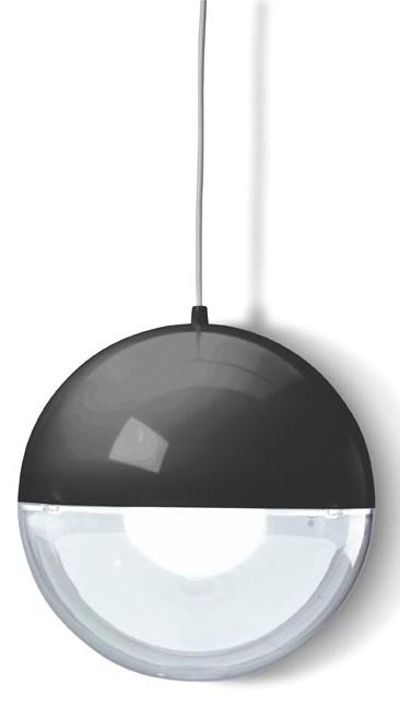 Acrylkugelleuchte schwarz transparent Pendel Leuchte - Leuchtenshop Acrylkugelleuchten