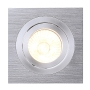 MR16 Downlight, eckig, alu brushed, max. 50W