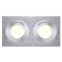 MR16 Downlight, rechteckig, alu brushed, max. 2x50W