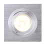GU10 Downlight, eckig, alu brushed, max. 50W
