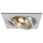 ES111 Downlight, eckig, alu brushed, GU10, max. 75W